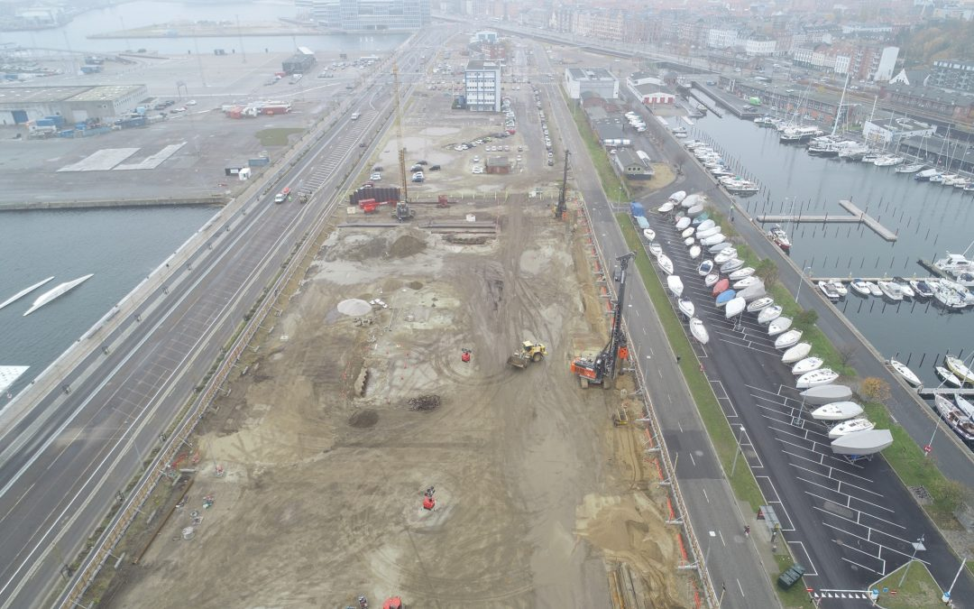 Hercules Fundering skal udføre kompleks byggegrube til kæmpe byggeri i Aarhus Ø